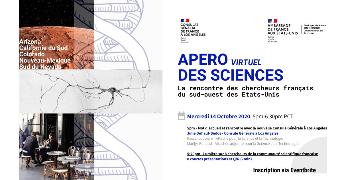 Une première édition de l'Apéro virtuel des Sciences réussie à Los Angeles
