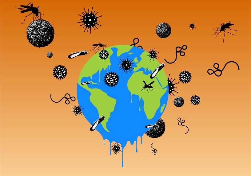 3 Décembre : Conférence en ligne : Changement climatique, quel impact sur la diffusion des maladies infectieuses ?