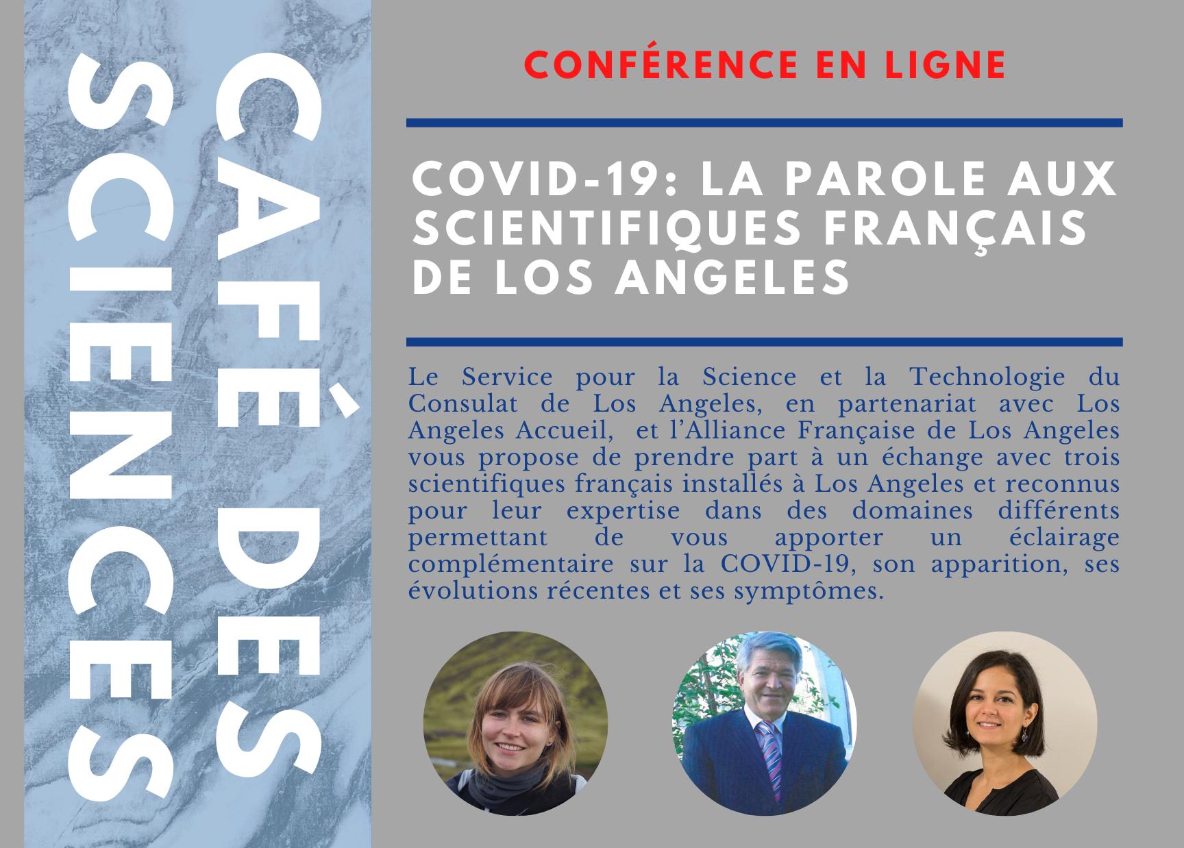 Café des Sciences @Online Décembre 3, 2020 // COVID-19 : La parole aux scientifiques français de Los Angeles