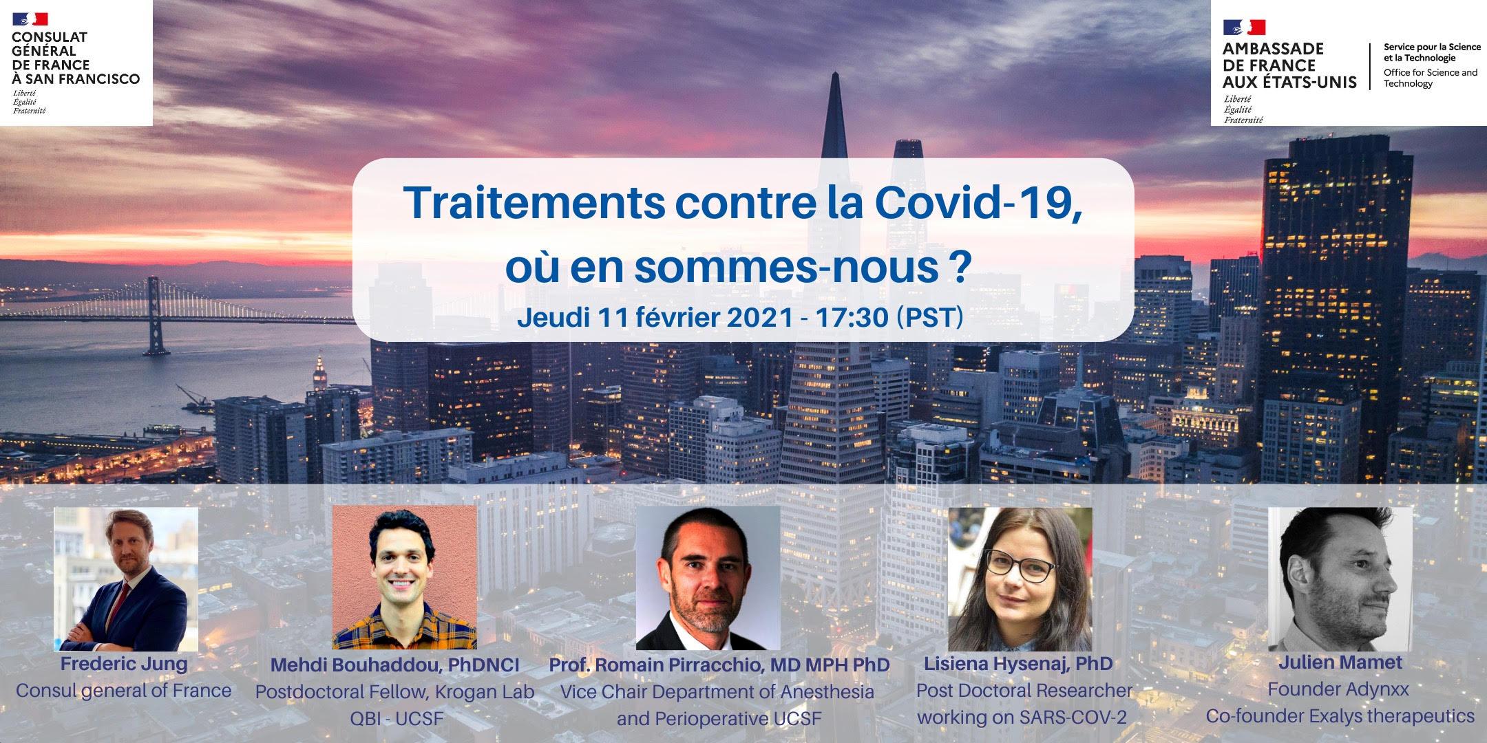 Retrouvez en vidéo notre conférence interactive autour des traitements contre la COVID-19 du 11 Février 2021