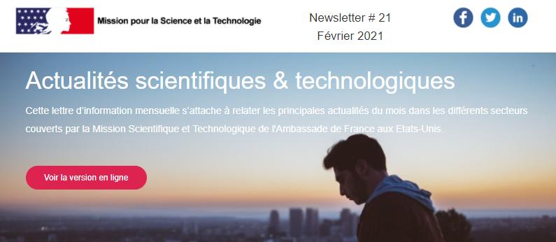 La Newsletter #21 – Février 2021 est en ligne