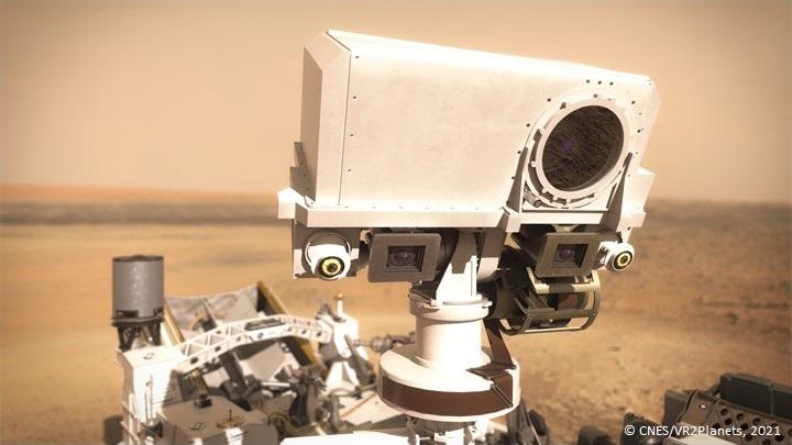 Premier bilan de santé de l'instrument SuperCam à la surface de Mars