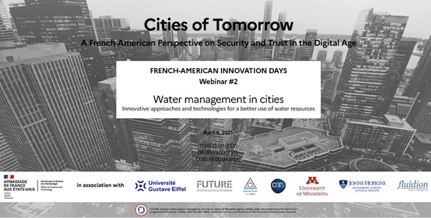 FAID Cities of Tomorrow – Deuxième webinaire public sur la gestion de l'eau en milieu urbain