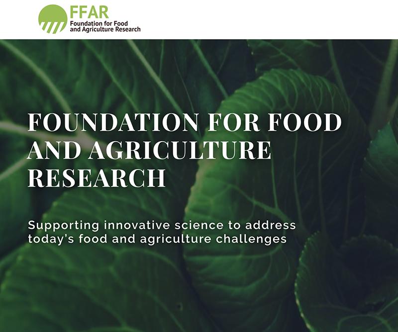 La Fondation pour la Recherche en Alimentation et Agriculture (FFAR) cible ses activités en s'engageant dans l'agriculture neutre en carbone et la lutte contre les adventices