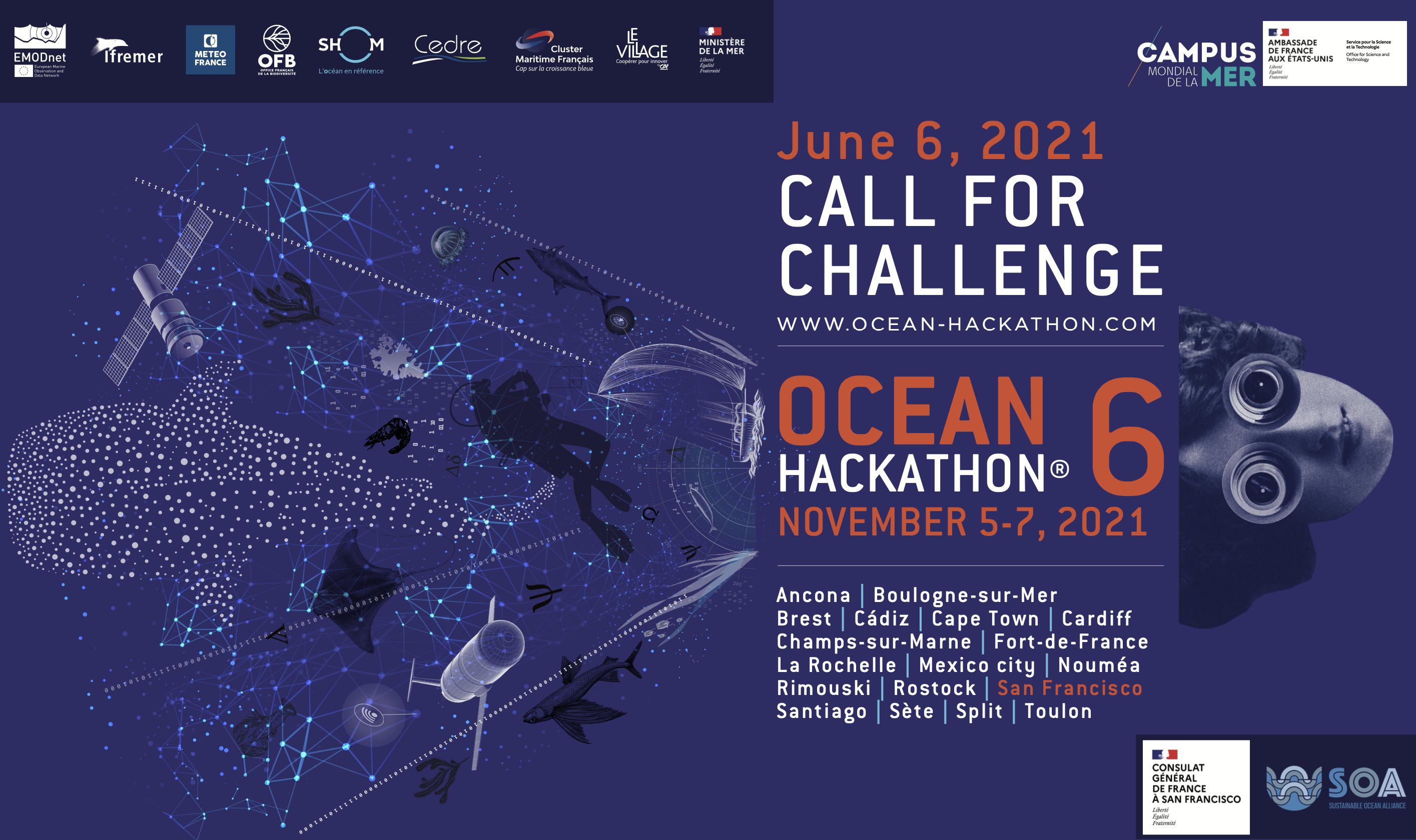 Ocean Hackathon à San Francisco – Proposez-nous vos challenges jusqu'au 6 Juin