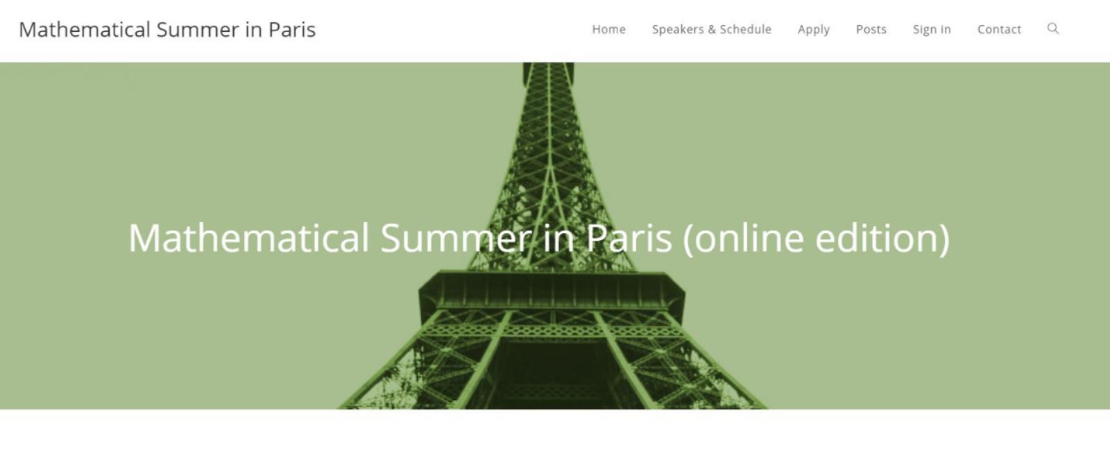 Mathematical Summer in Paris (online edition)
