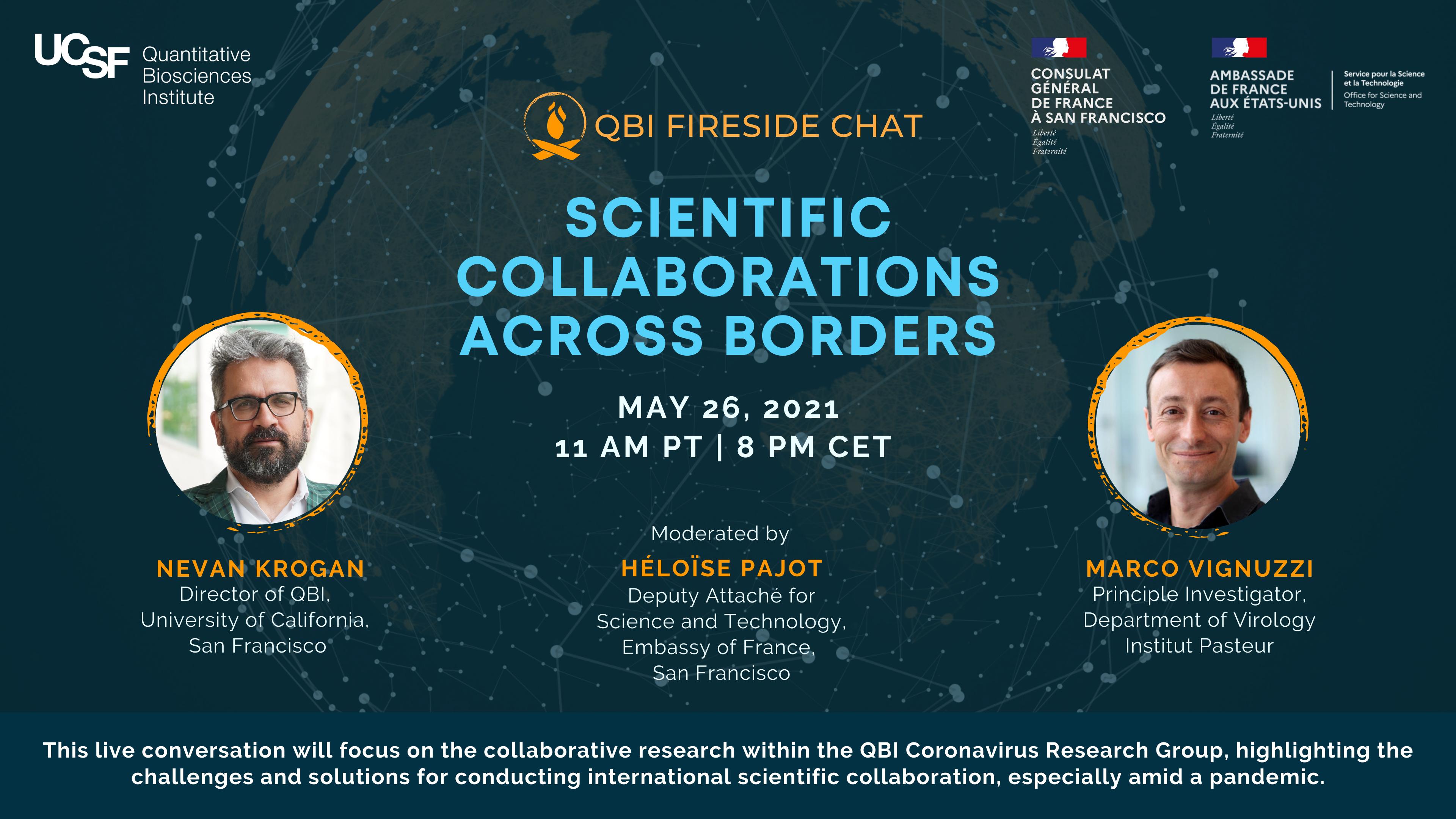 Collaborations scientifiques au-delà des frontières – Retour sur le fireside chat entre Nevan Krogan, Director à QBI et Marco Vignuzzi, Principal Investigator à l'Institut Pasteur