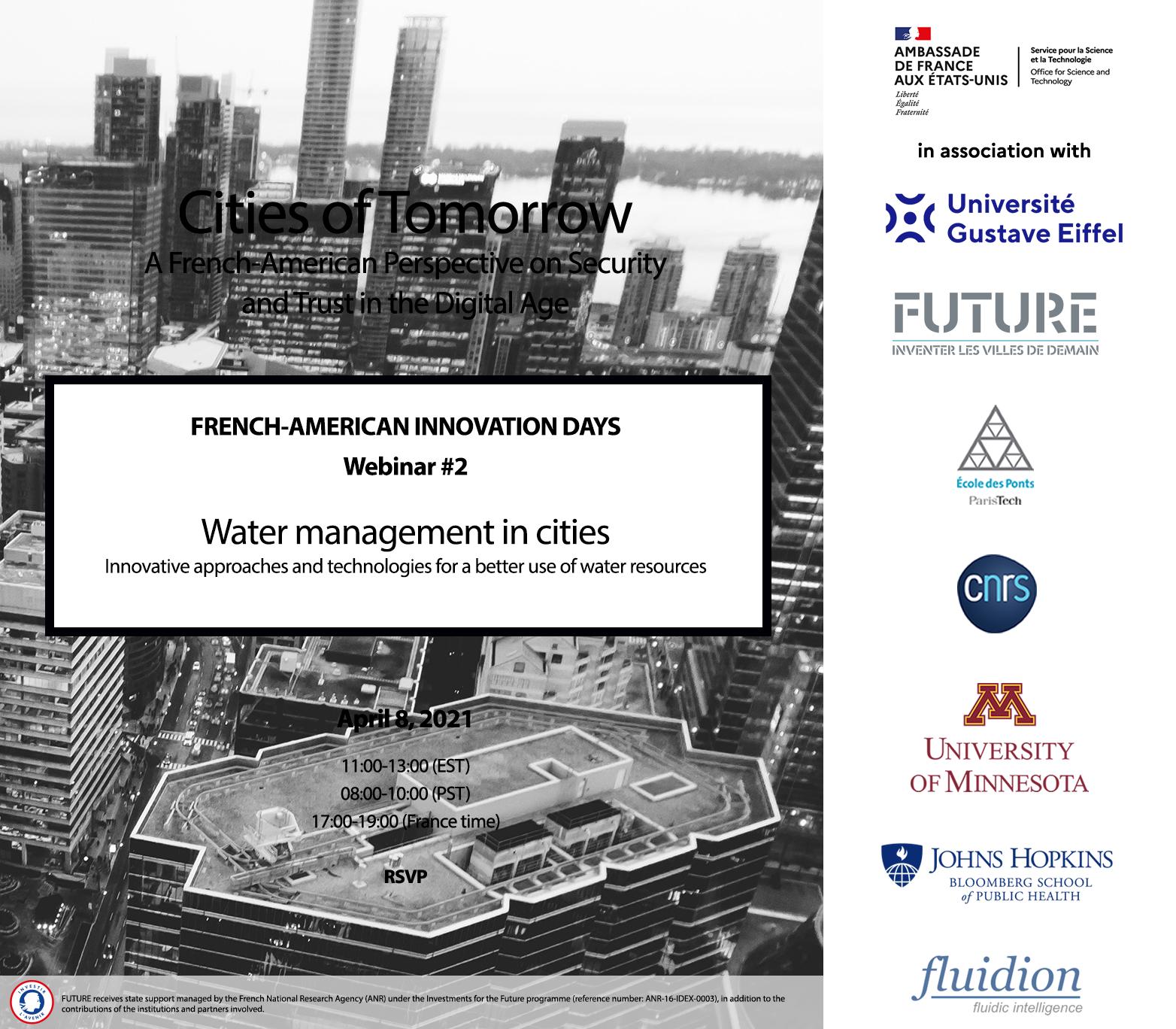 FAID Cities of Tomorrow – Replay Webinaire #2 – Technologies et approches innovantes pour la gestion de l'eau en milieu urbain