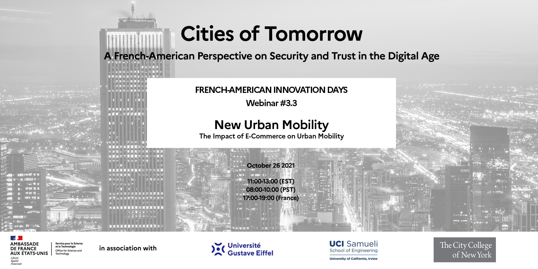 FAID «Villes du Futur» : Webinaire #3.3- L'impact du commerce électronique sur la mobilité urbaine